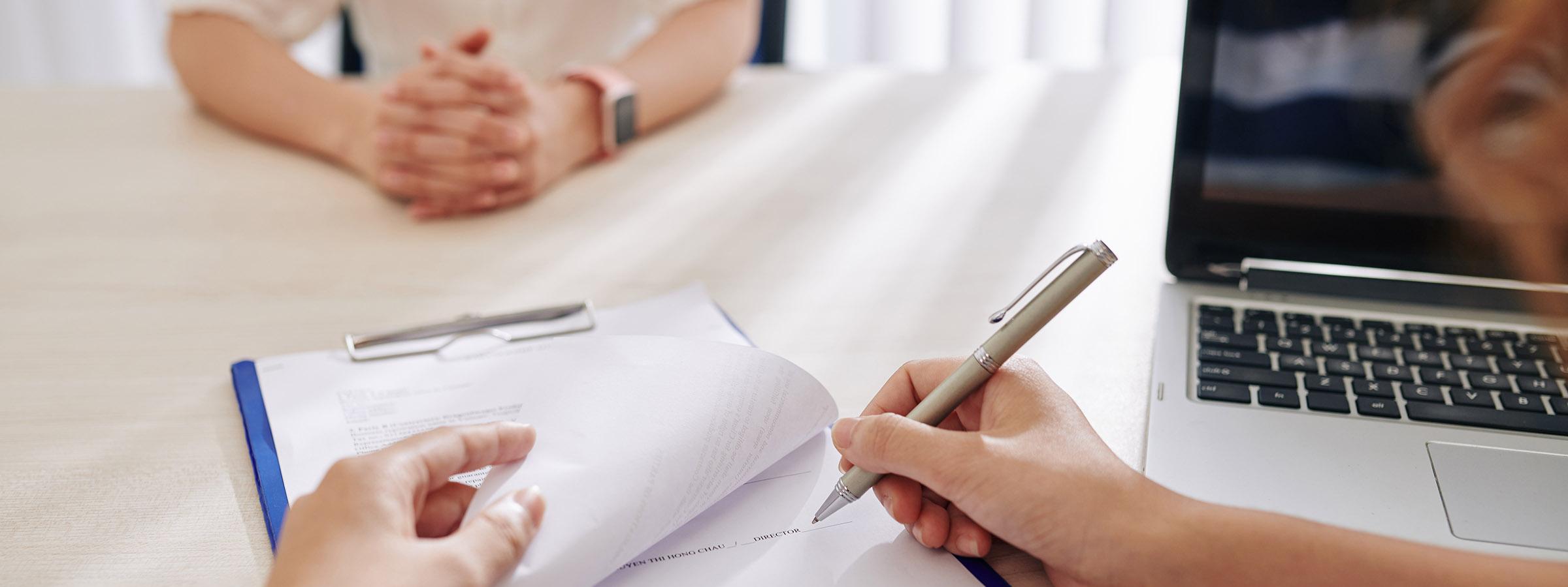 Unterschrift Arbeitsvertrag